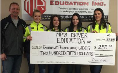 MP's Donates to Fanshawe Paramedic and WDDS