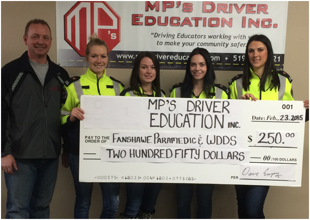 MP's Donates to Fanshawe Paramedic and WDDS
